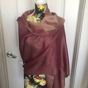 Cashmere and Silk Shawl from India - 2 tone